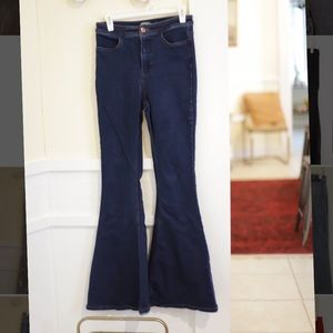 Free People Super Flare Highrise Jeans